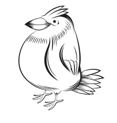 Black and white bird vector