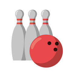 Bowling ball pin sport vector