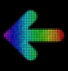 Bright dot arrow left icon vector