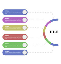 business infographic with text vector image