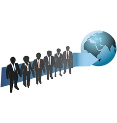 Business people work for global future vector image