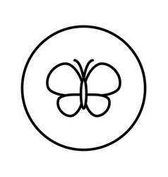 butterfly icon editable thin line vector image