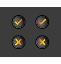 buttons with accepted and rejected text vector image