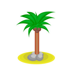 Cartoon palm tree with kakos vector