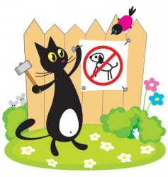 Cat nailing the sign vector