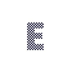 Checker pattern logo letter e vector