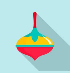 colorful dreidel icon flat style vector image