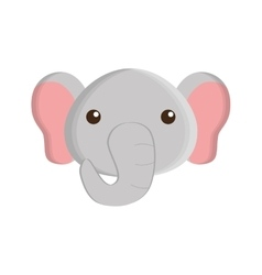 cute elephant isolated icon vector image