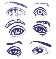 Drawing eyes vector