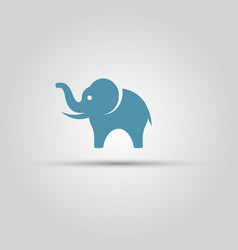 elephant isolated colored symbol icon vector image