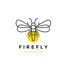 firefly outline logo icon vector image