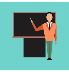 Flat icon on stylish background male teacher vector