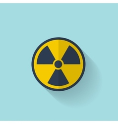 Flat radiation icon vector image