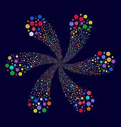 Flower centrifugal burst vector