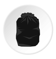 Garbage bag icon flat style vector image