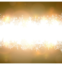 Golden christmas background with white copyspace vector image