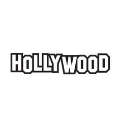 Hollywood word text design vector