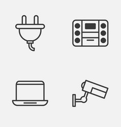 Icons set collection of surveillance socket vector
