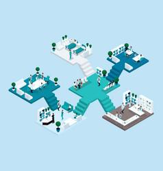 isometrics big hospital vector image