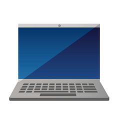 laptop computer device vector image