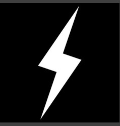 lightning the white color icon vector image