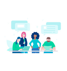 live chat - flat design style colorful vector image