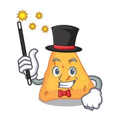 Magician nachos mascot cartoon style vector