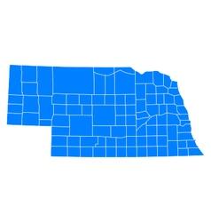 Map of Nebraska vector image