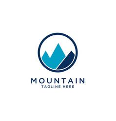 mountain logo design templatemountain icon vector image