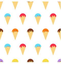 multicolor ice cream pattern vector image