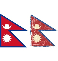 Nepal grunge flag vector