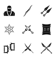 Old weapons icons set simple style vector