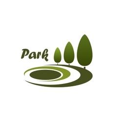Park landscape design symbol or emblem vector