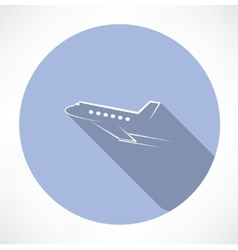Passenger plane icon vector