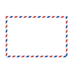 Postal background placed on white vector