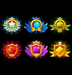 Receiving achievement templates awards vector