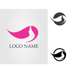 Salon hair woman and face logo and symbols vector