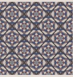 Seamless mandala pattern vintage elements in vector