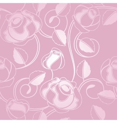 seamless wallpaper pattern with of pink roses vector image
