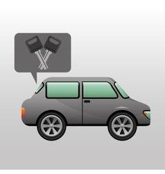 Sedan car keys design vector