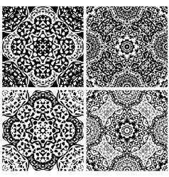 Set of squared backgrounds - ornamental seamless vector