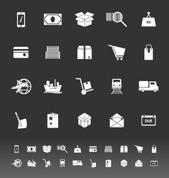 Shipment icons on gray background vector image