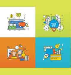 shop protection and types of payment workflow vector image