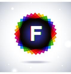Spectrum logo icon letter f vector