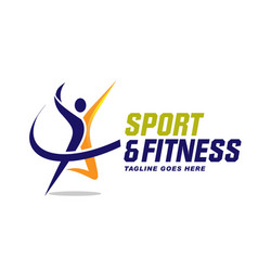 Sport and fitness logo vector