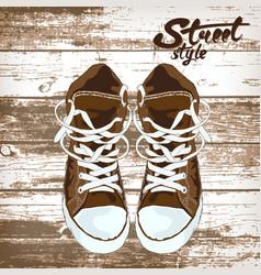 Sport shoe graphic design of vector