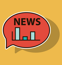 Sticker breaking news online announcement message vector