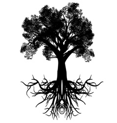 Stylized Tree Silhouette4 vector