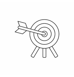 Target icon in outline style vector image