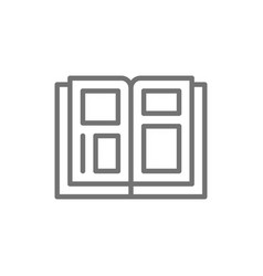 Tattoo design catalog line icon vector